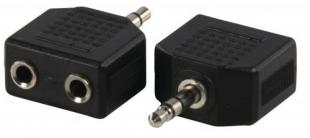 Adaptor JACK STEREO 3.5mm tata <-> 2 X JACK STEREO 3.5 mm mama, Well; Cod EAN: 5948636001433
