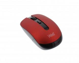 Mouse wireless Well MW101 rosu/negru; Cod EAN: 5948636034868