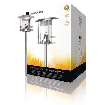 Lampa solara de gradina cu senzor de miscare Ranex tip stalp 100lm