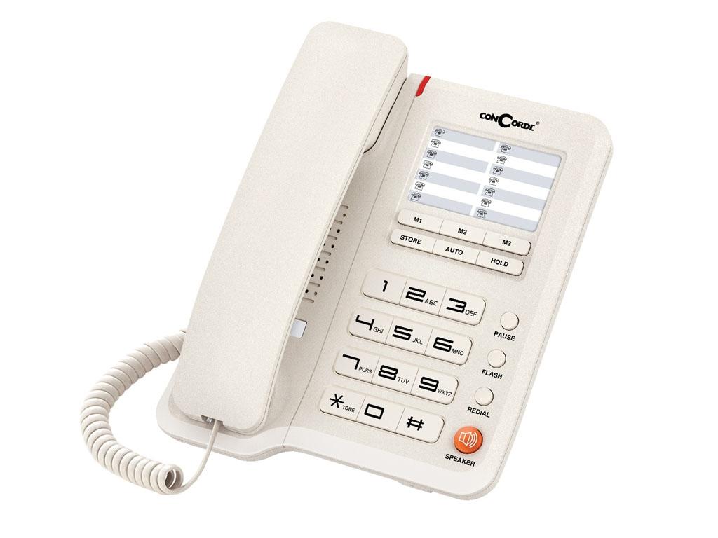 Telefon cu fir de masa alb A40 Concorde