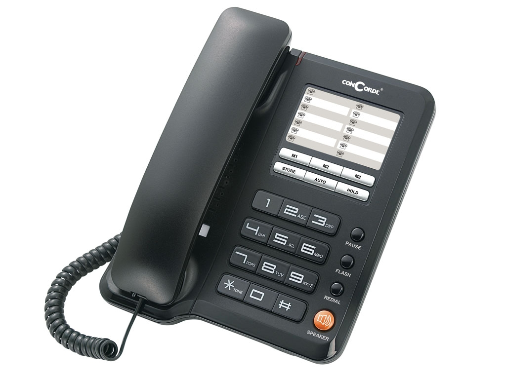 Telefon cu fir de masa negru A40 Concorde